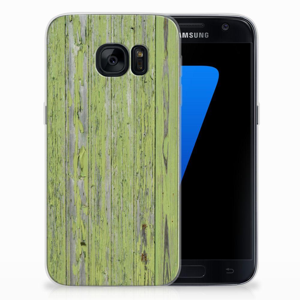 Samsung Galaxy S7 TPU Hoesje Design Green Wood