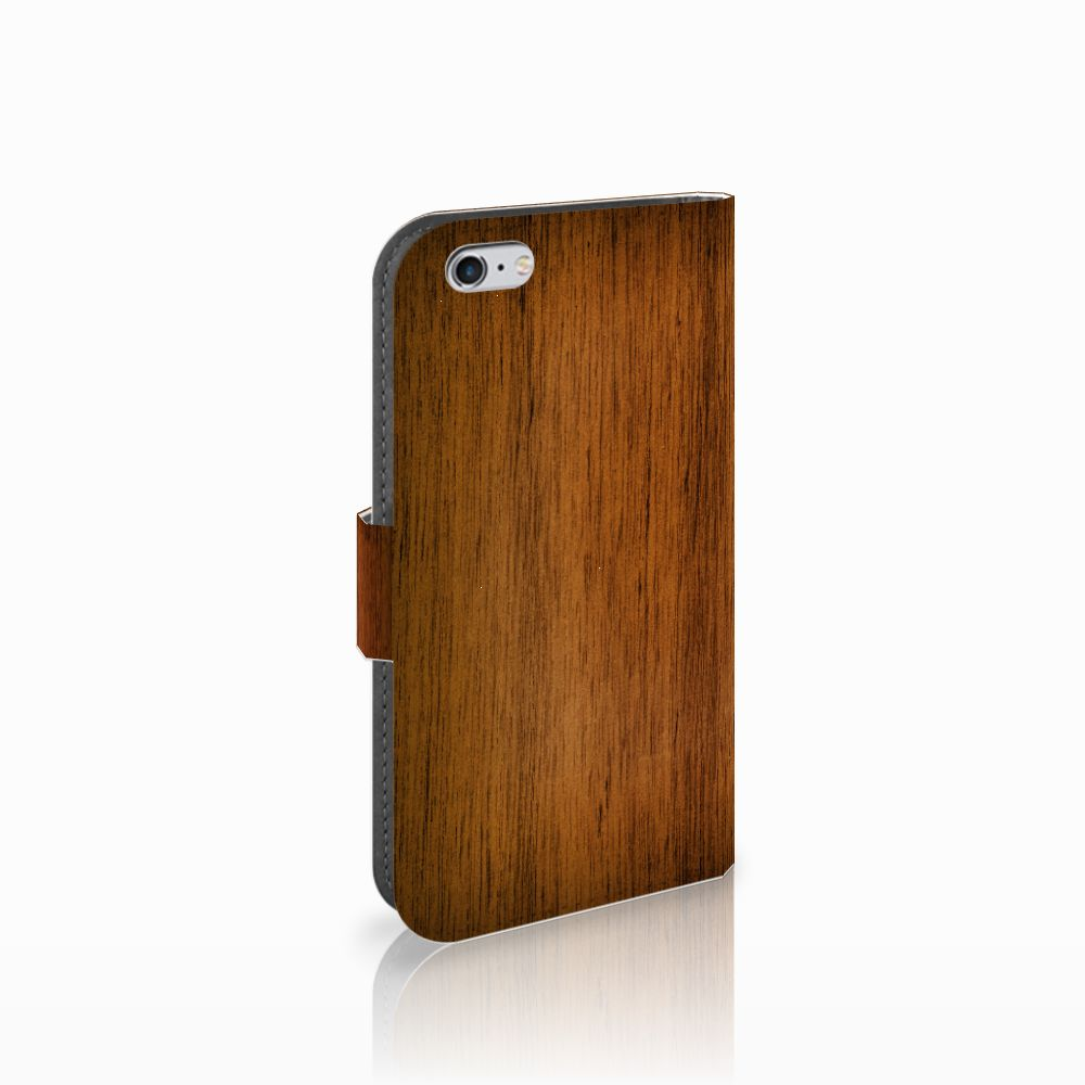 Apple iPhone 6 | 6s Book Style Case Donker Hout