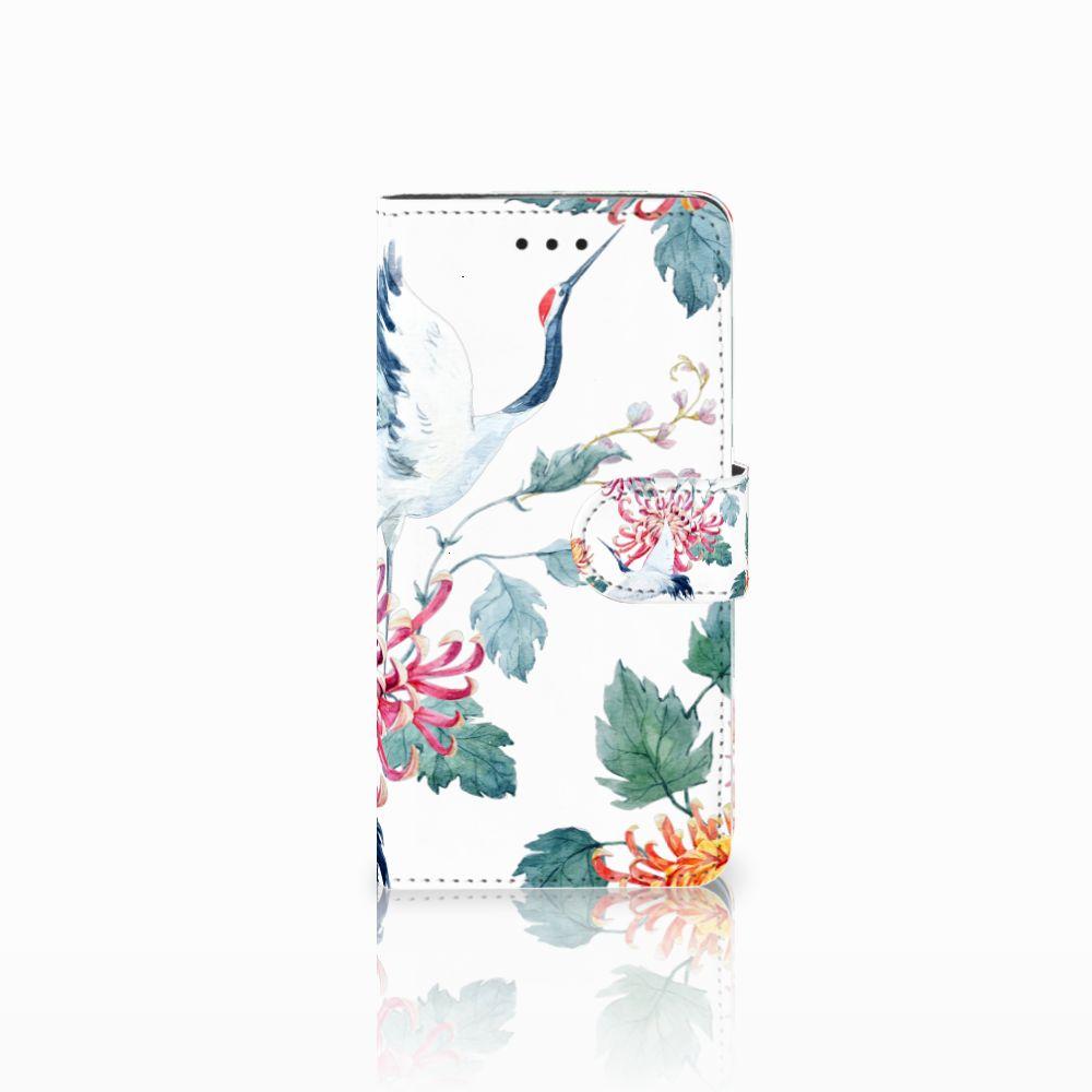 Huawei Y5 2018 Uniek Boekhoesje Bird Flowers