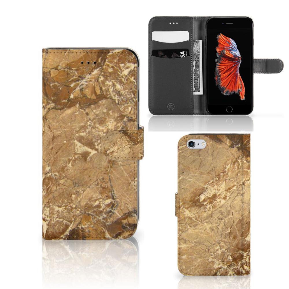 Apple iPhone 6 Plus | 6s Plus Bookcase Marmer Creme