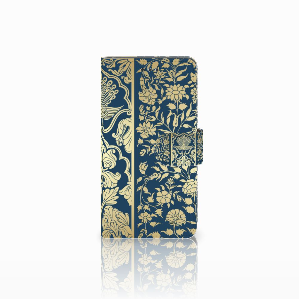 Nokia 7 Boekhoesje Golden Flowers