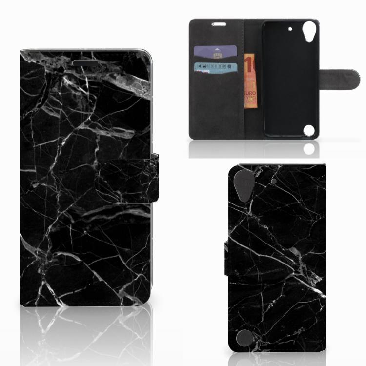 HTC Desire 530 Bookcase Marmer Zwart
