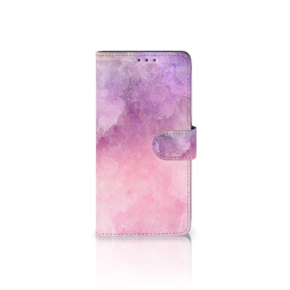 Samsung Galaxy A8 Plus (2018) Boekhoesje Design Pink Purple Paint