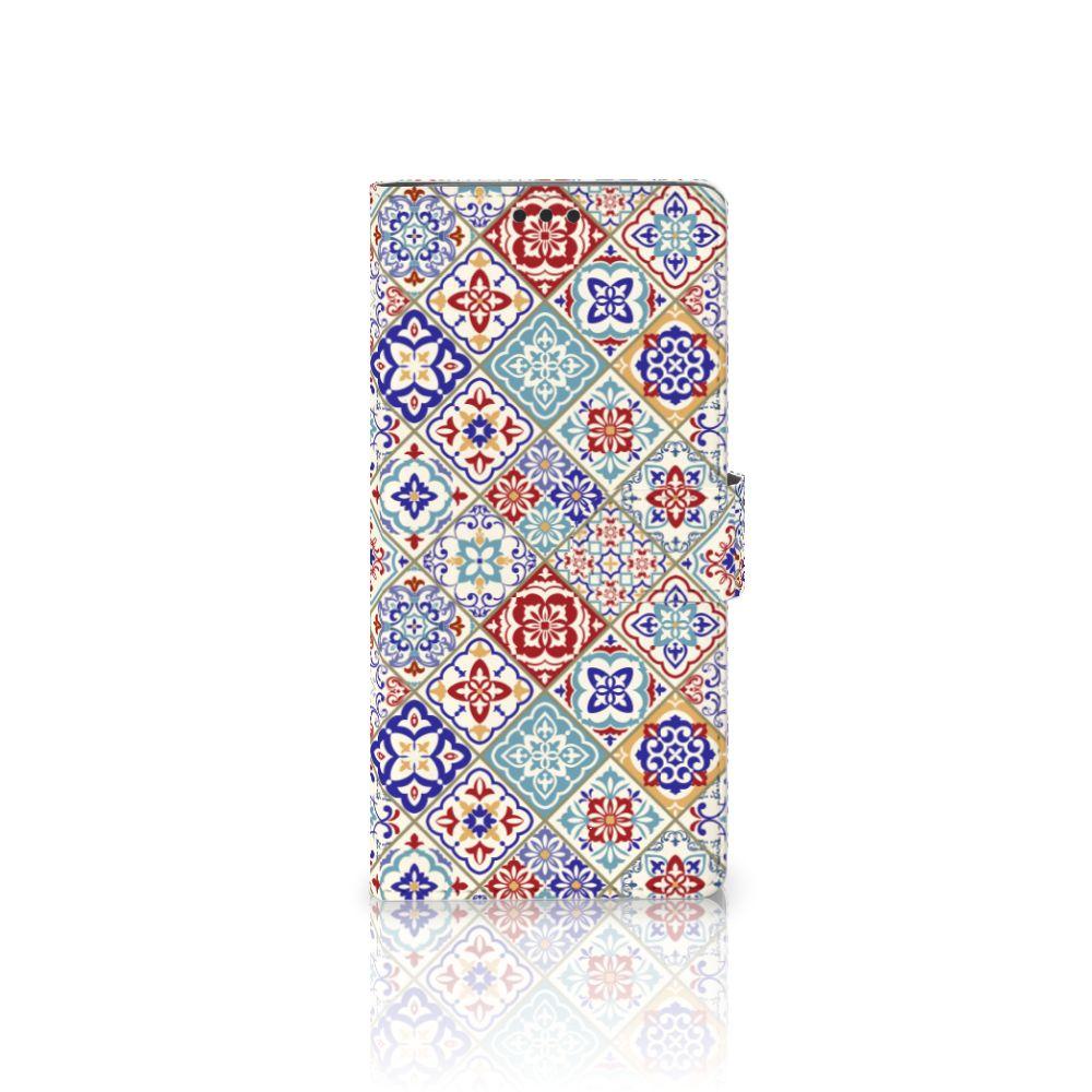 Sony Xperia XA Ultra Uniek Boekhoesje Tiles Color