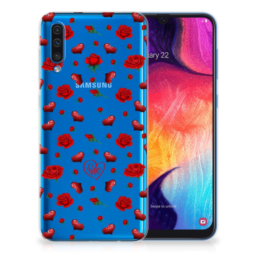 Samsung Galaxy A50 Telefoonhoesje met Naam Valentine