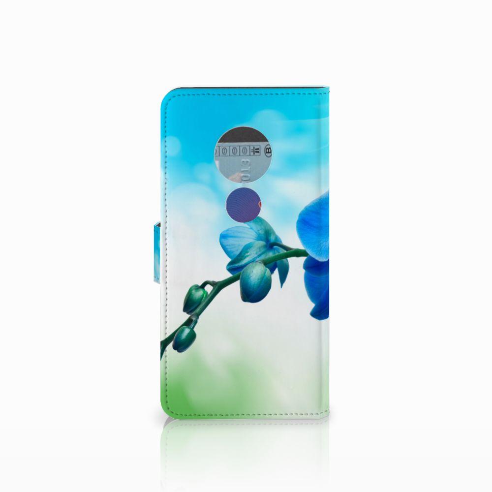 Motorola Moto E5 Hoesje Orchidee Blauw