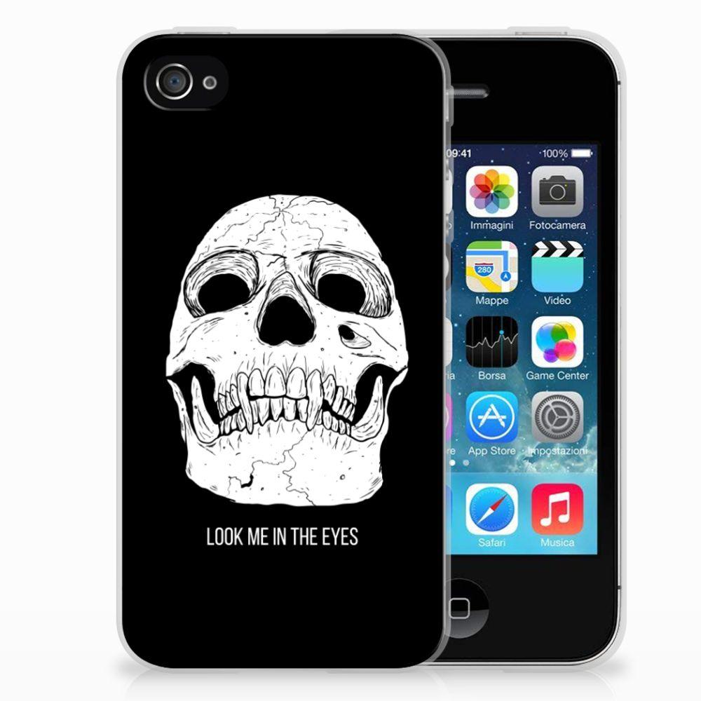 Apple iPhone 4 | 4s Uniek TPU Hoesje Skull Eyes