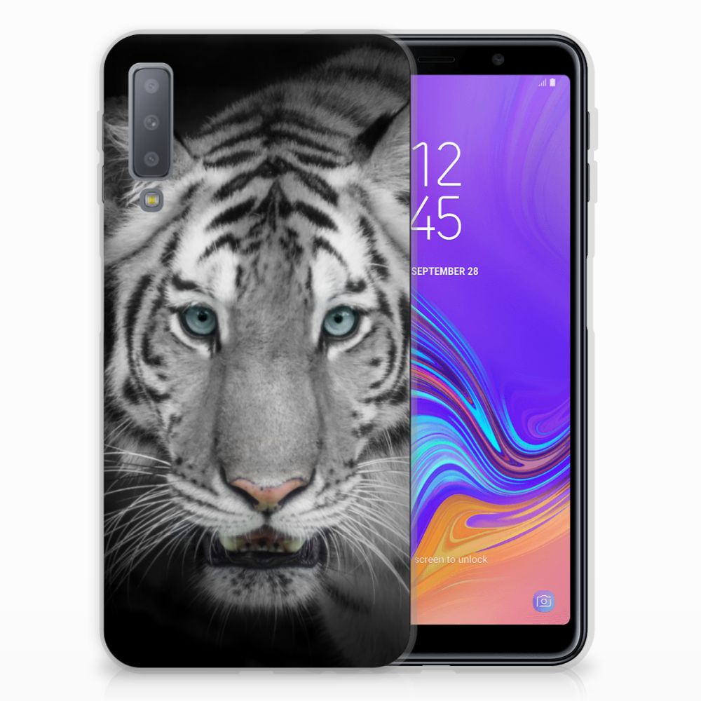 Samsung Galaxy A7 (2018) TPU Hoesje Tijger
