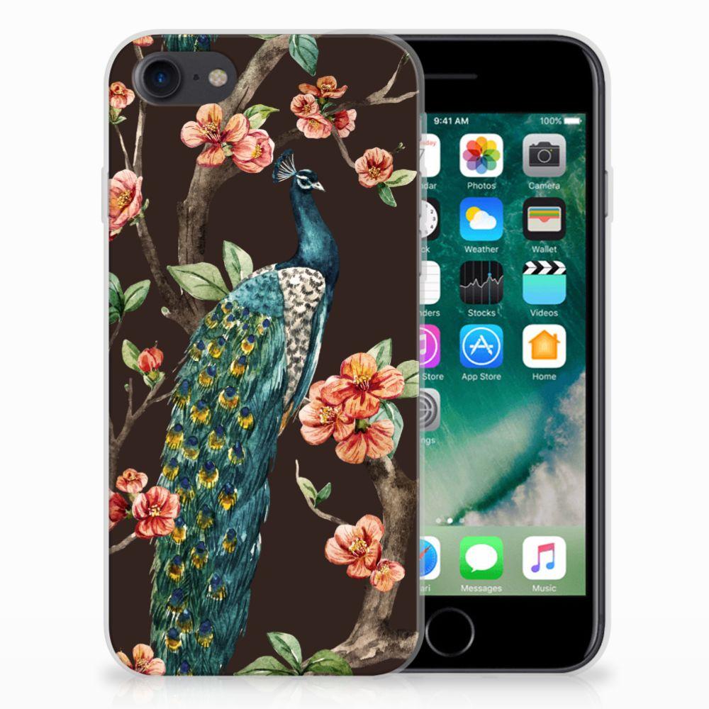 Apple iPhone 7 | 8 TPU Hoesje Pauw met Bloemen