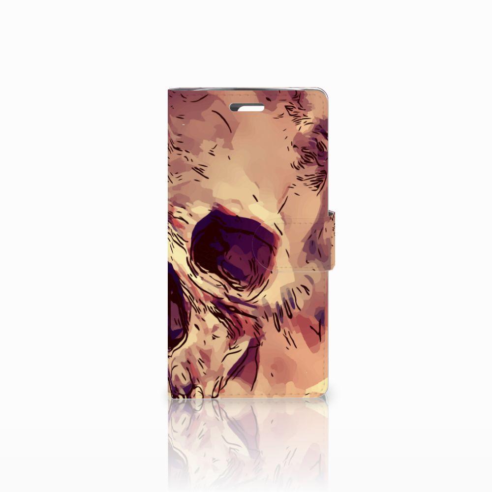 LG K10 2015 Uniek Boekhoesje Skullhead