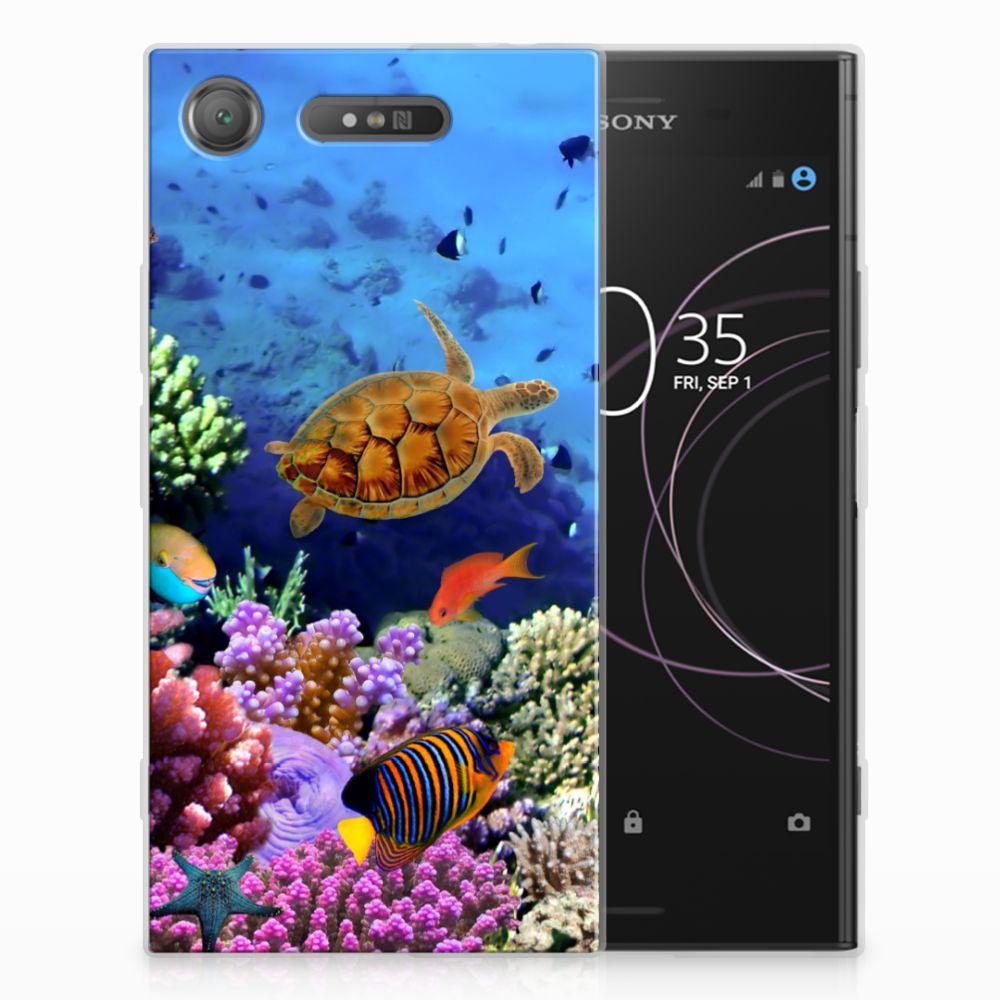 Sony Xperia XZ1 TPU Hoesje Design Vissen