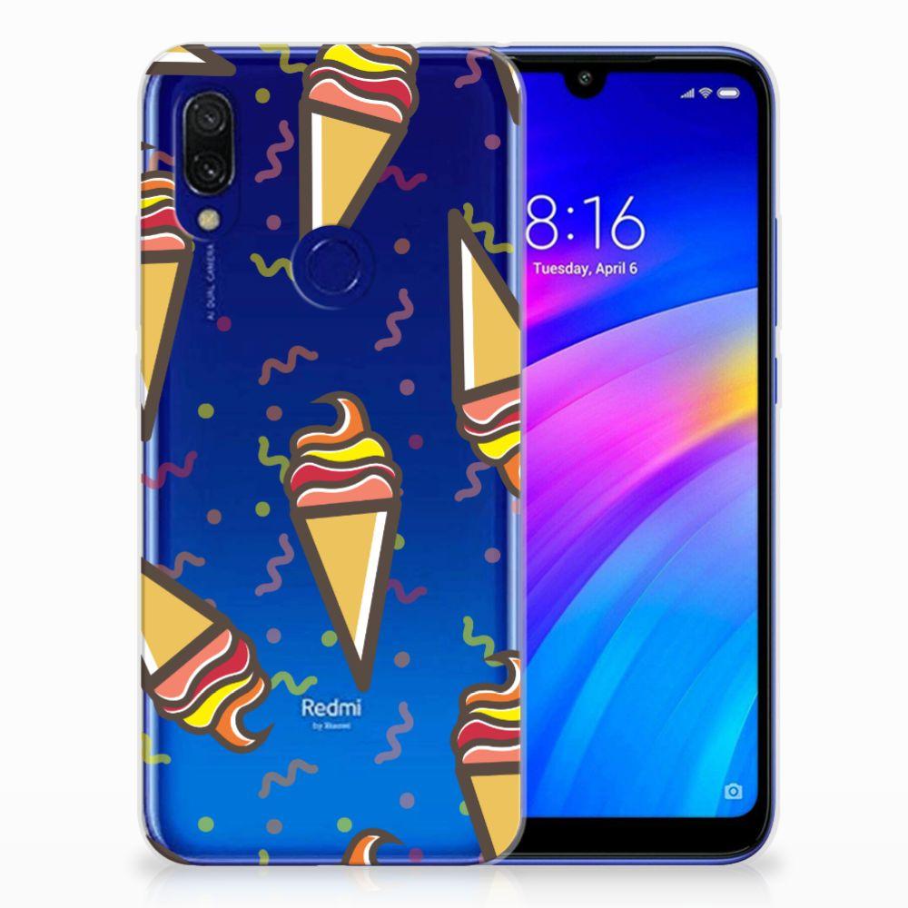 Xiaomi Redmi 7 Siliconen Case Icecream