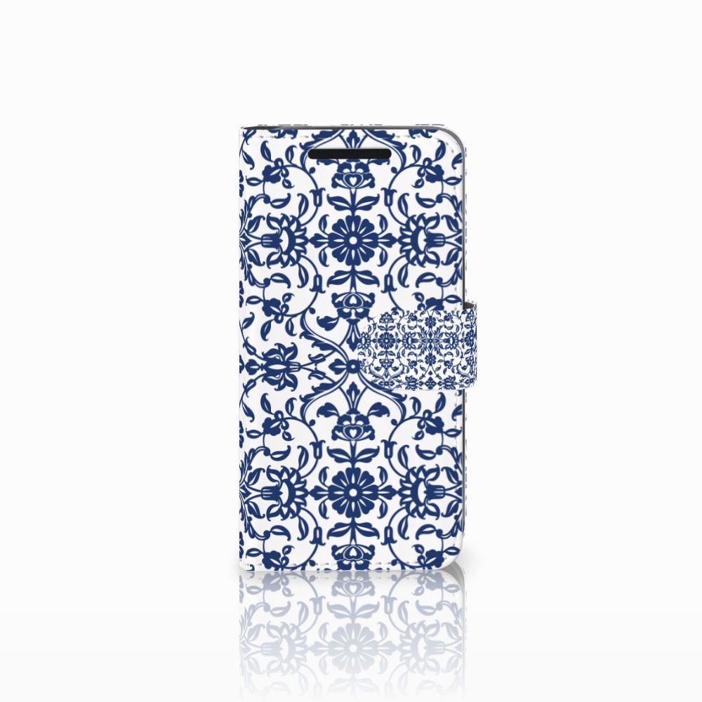 HTC One M9 Hoesje Flower Blue