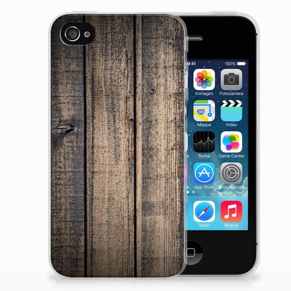 Apple iPhone 4   4s Bumper Hoesje Steigerhout
