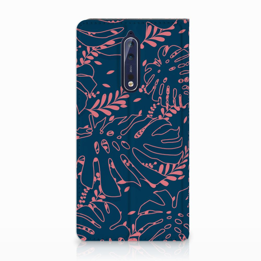 Nokia 8 Standcase Hoesje Design Palm Leaves