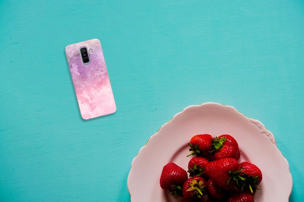 Hoesje maken Samsung Galaxy A6 Plus (2018) Pink Purple Paint