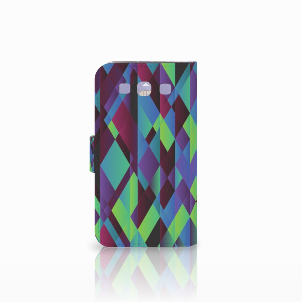 Samsung Galaxy S3 i9300 Bookcase Abstract Green Blue