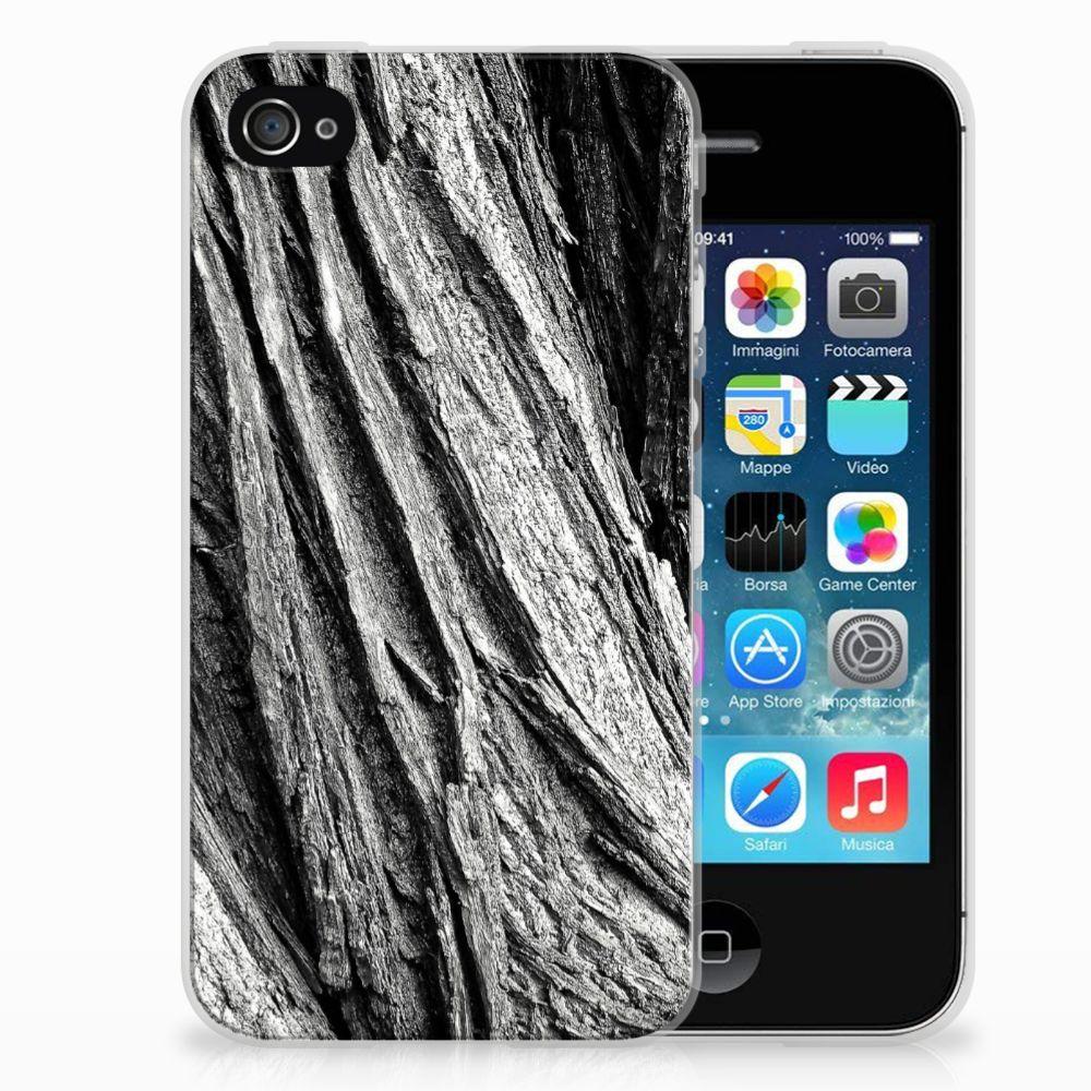 Bumper Hoesje Apple iPhone 4   4s Boomschors Grijs