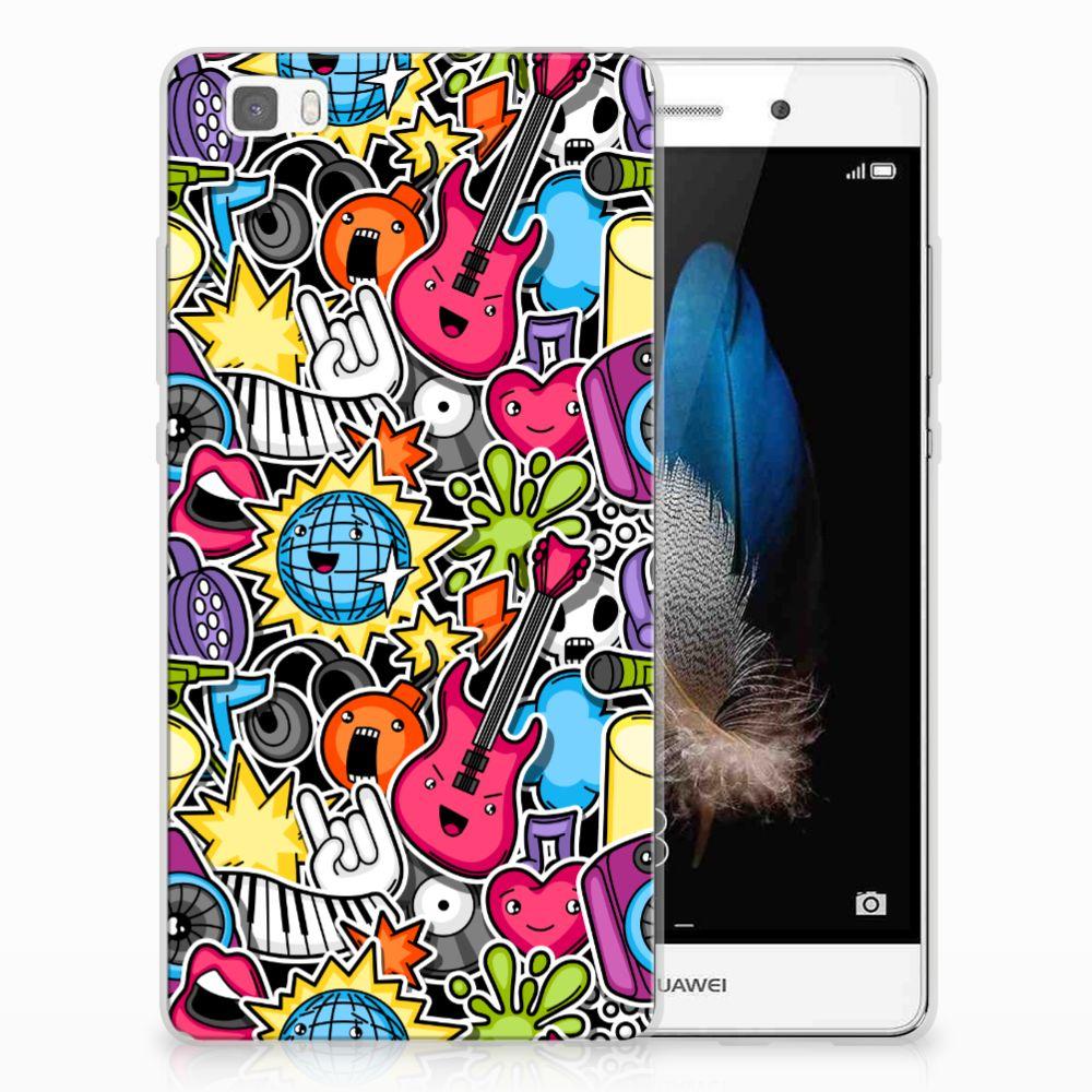 Huawei Ascend P8 Lite Uniek TPU Hoesje Punk Rock