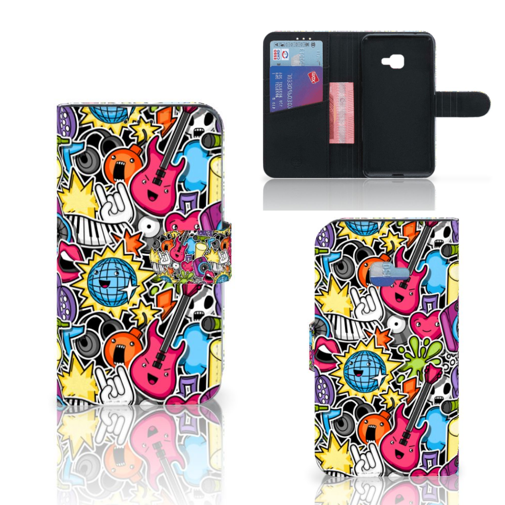 Samsung Galaxy Xcover 4 | Xcover 4s Wallet Case met Pasjes Punk Rock