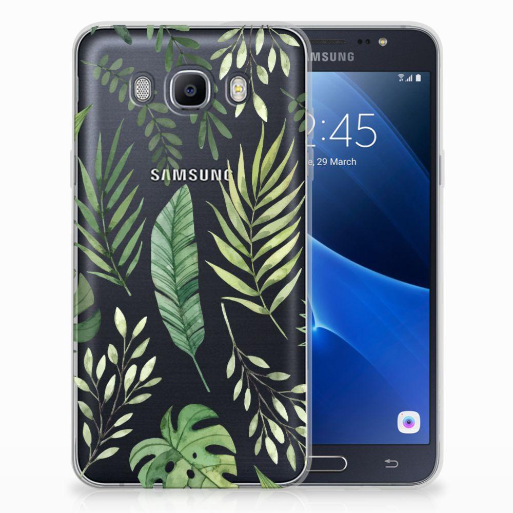 Samsung Galaxy J7 2016 Uniek TPU Hoesje Leaves
