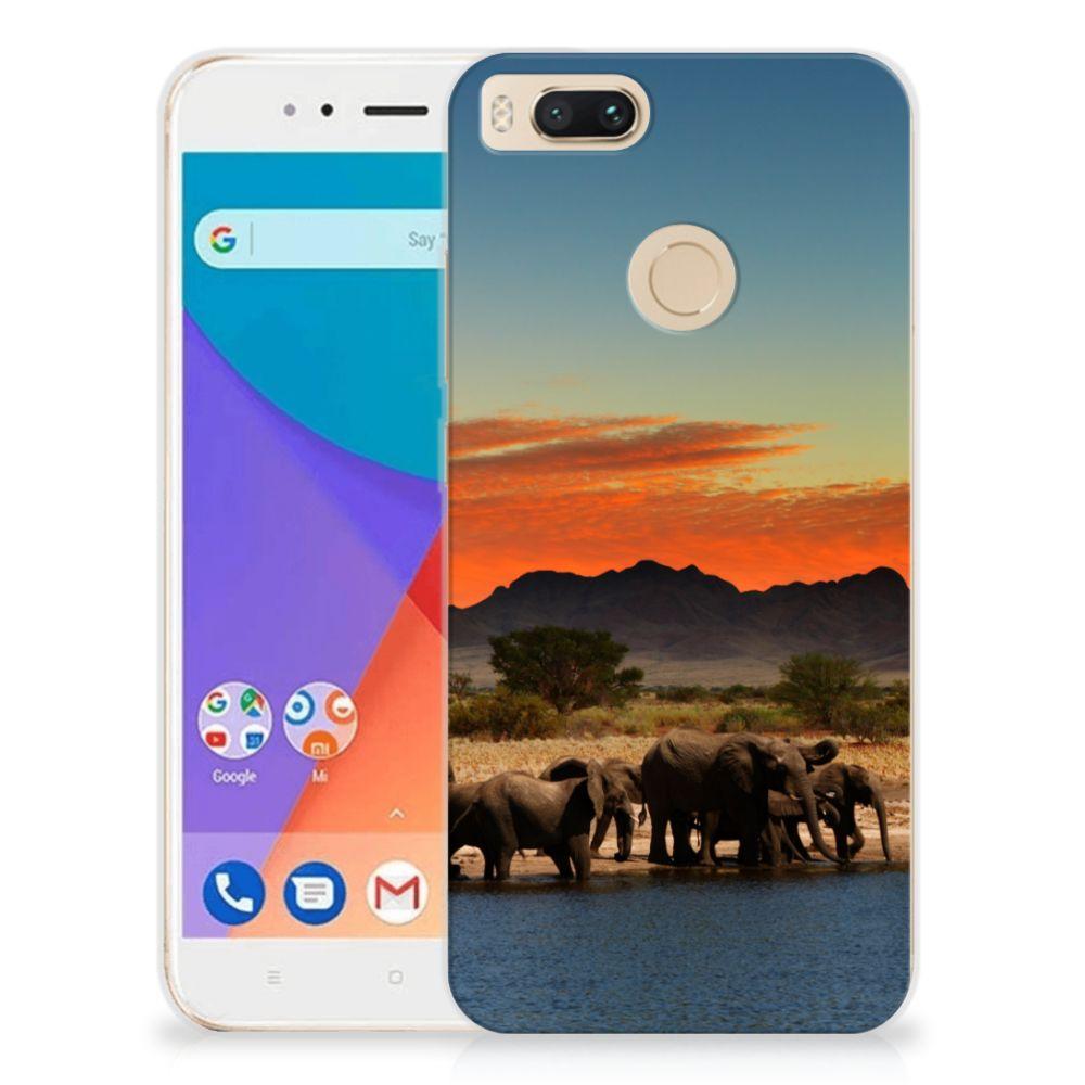 Xiaomi Mi A1 TPU Hoesje Olifanten