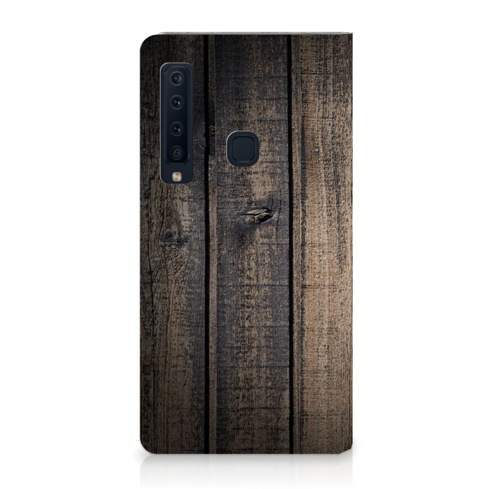 Samsung Galaxy A9 (2018) Standcase Hoesje Design Steigerhout
