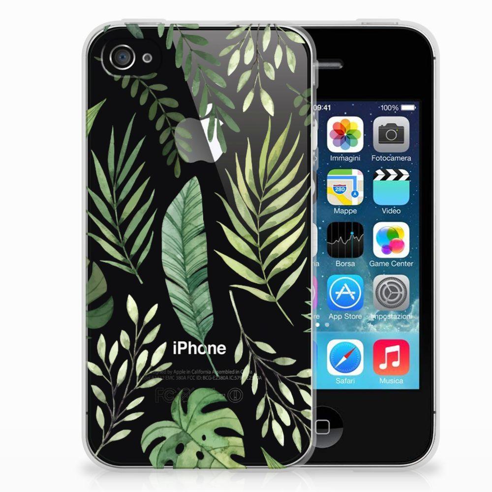 Apple iPhone 4 | 4s Uniek TPU Hoesje Leaves