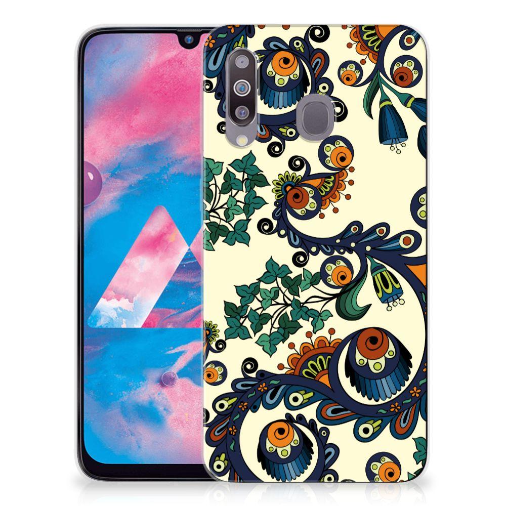 Siliconen Hoesje Samsung Galaxy M30 Barok Flower
