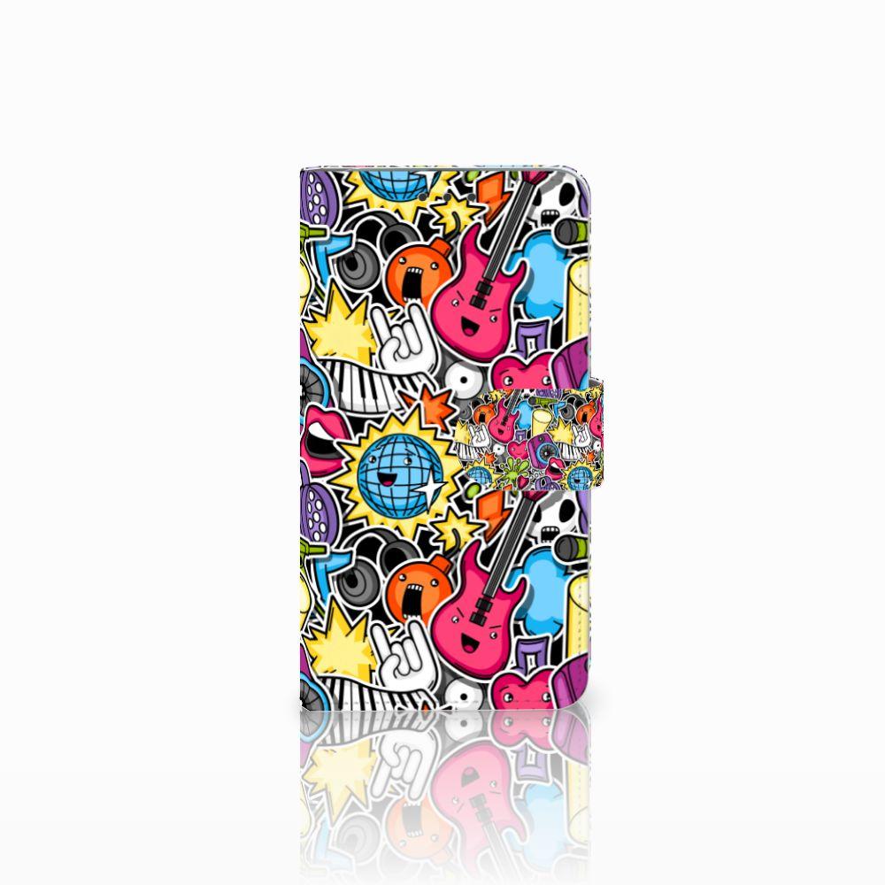 Microsoft Lumia 640 Uniek Boekhoesje Punk Rock
