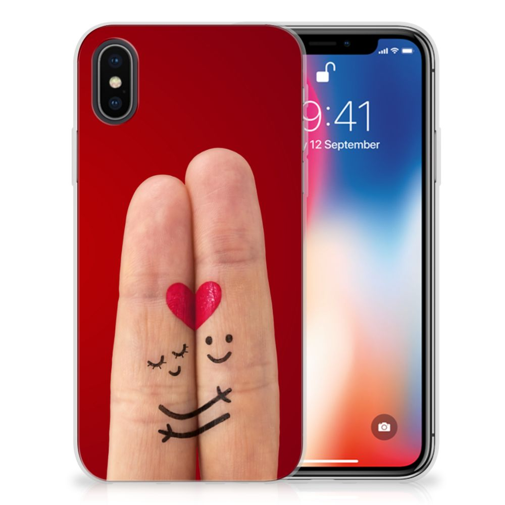 Apple iPhone X | Xs Silicone Back Cover Liefde