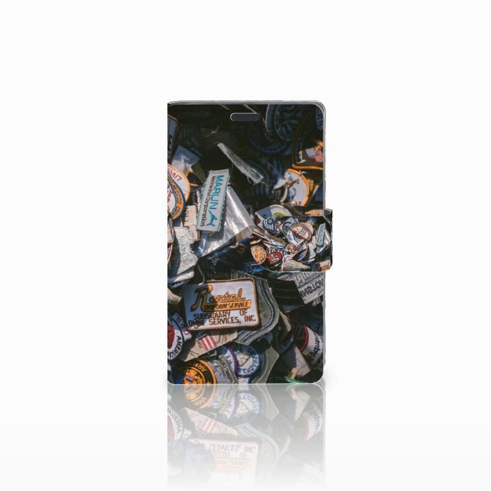 Nokia Lumia 625 Uniek Boekhoesje Badges