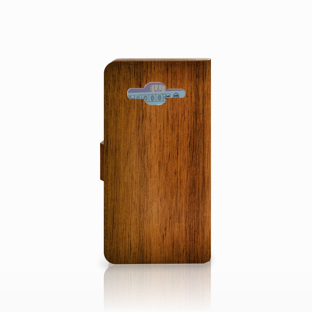 Samsung Galaxy J2 2016 Book Style Case Donker Hout