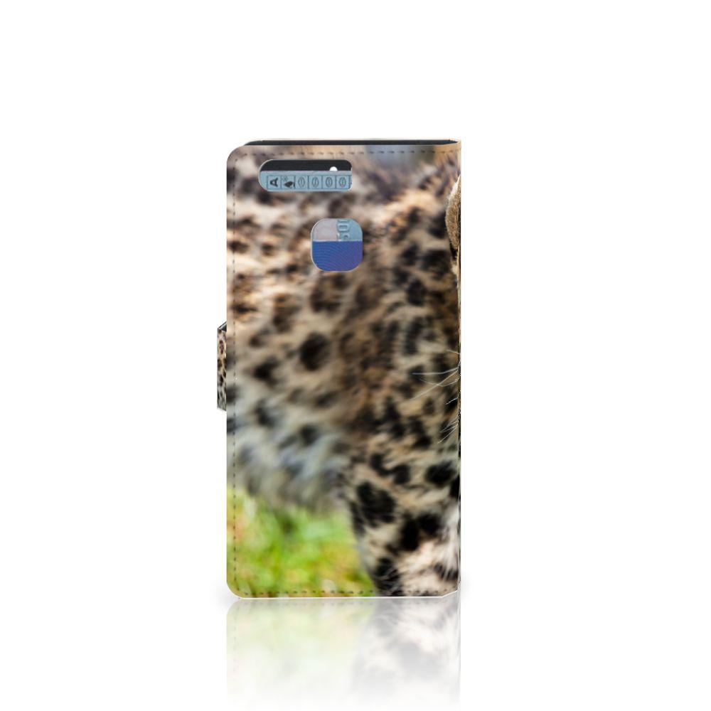 Huawei P9 Telefoonhoesje met Pasjes Baby Luipaard