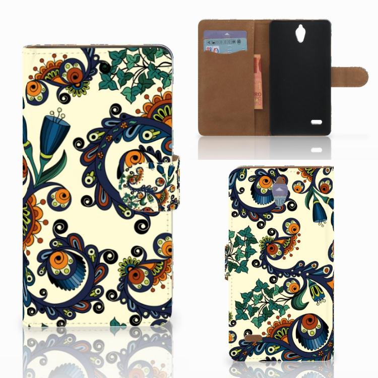Wallet Case Huawei Ascend G700 Barok Flower