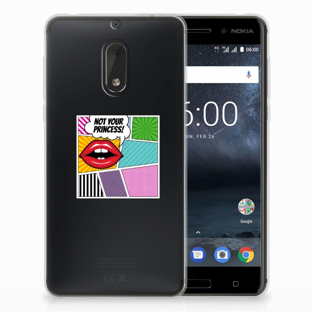 Nokia 6 Uniek TPU Hoesje Popart Princess