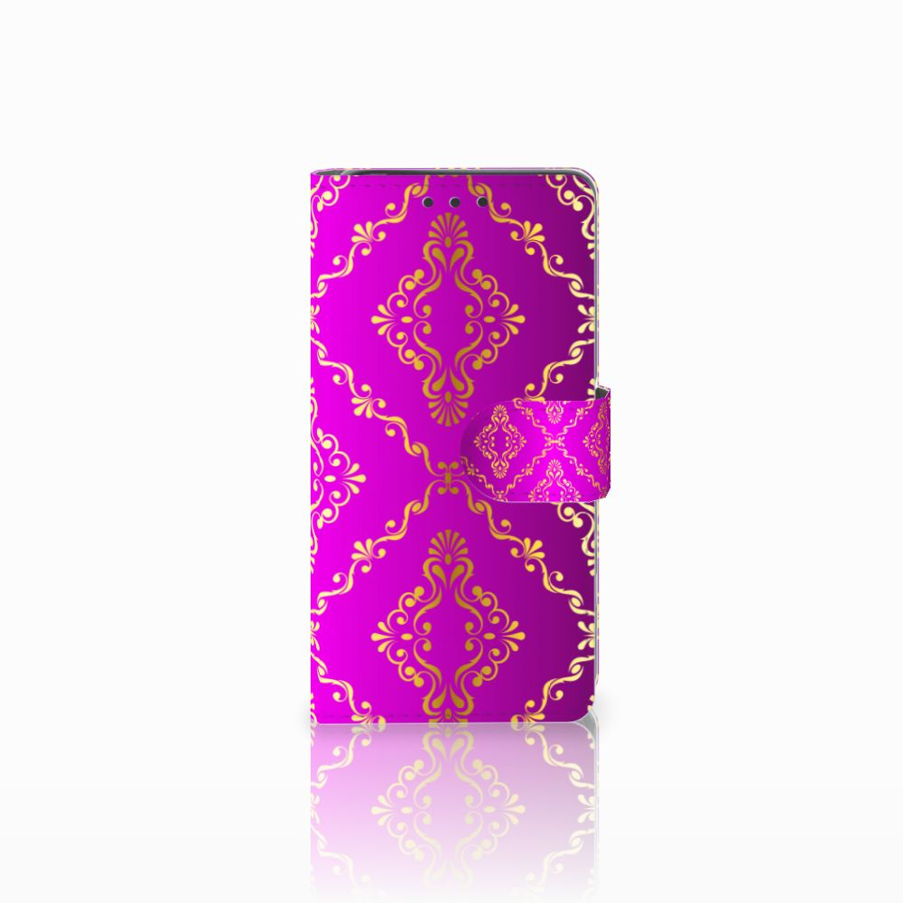 Sony Xperia X Uniek Boekhoesje Barok Roze