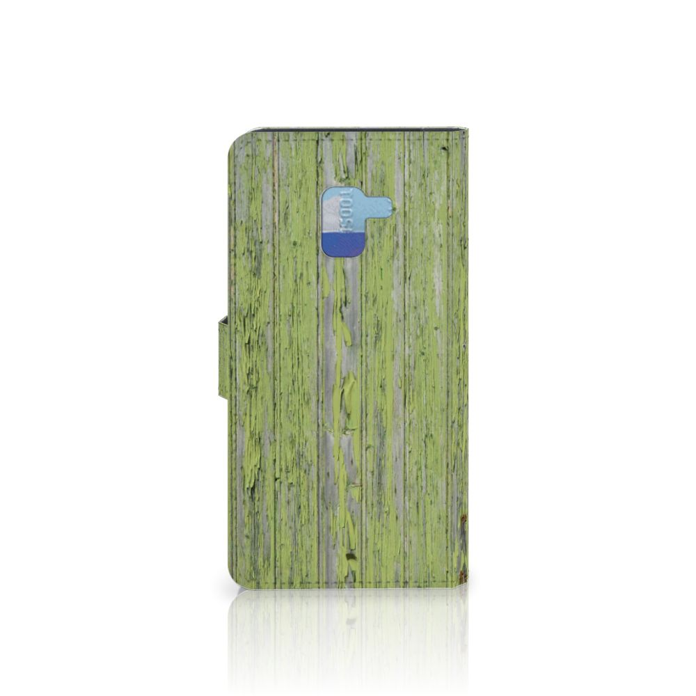Samsung Galaxy A8 Plus (2018) Book Style Case Green Wood