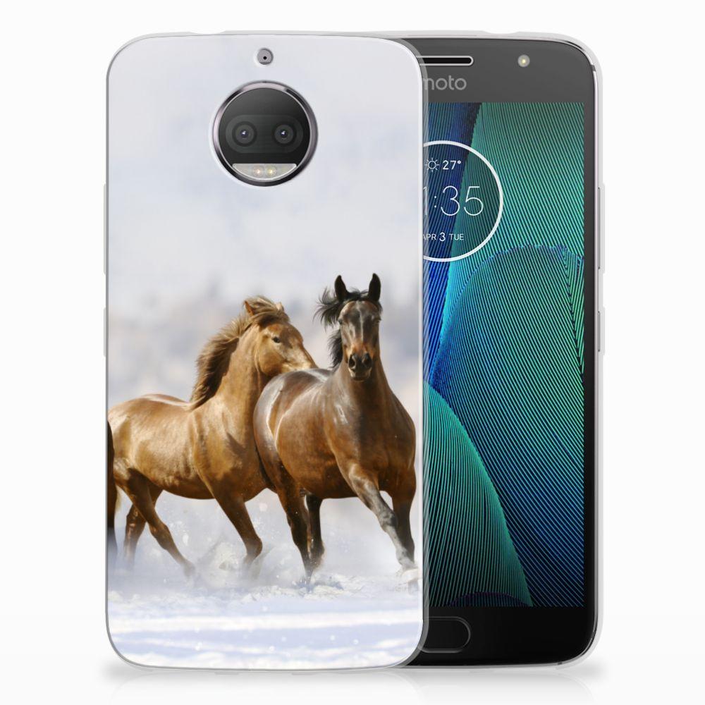 Motorola Moto G5S Plus Uniek TPU Hoesje Paarden