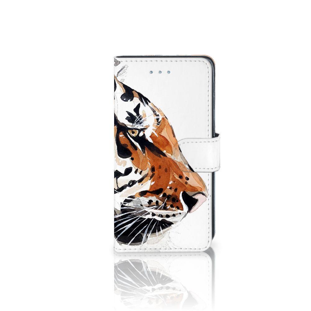 Samsung Galaxy J3 2016 Uniek Boekhoesje Watercolor Tiger