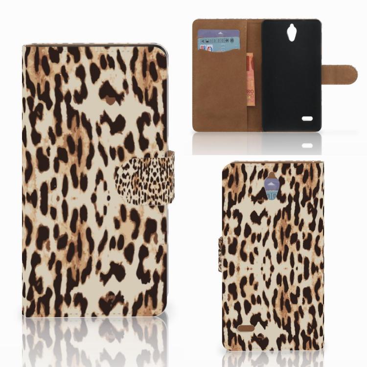 Huawei Ascend G700 Telefoonhoesje met Pasjes Leopard
