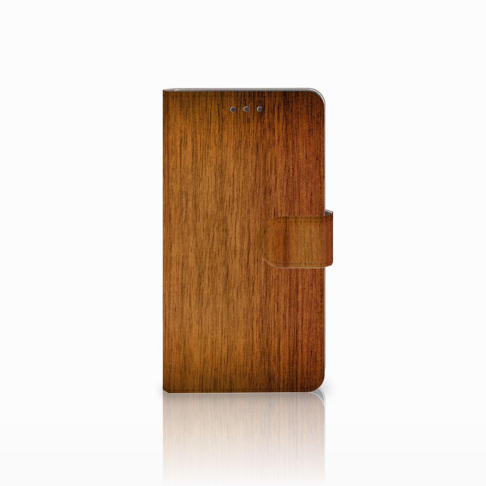 Huawei Honor 5X Uniek Boekhoesje Donker Hout