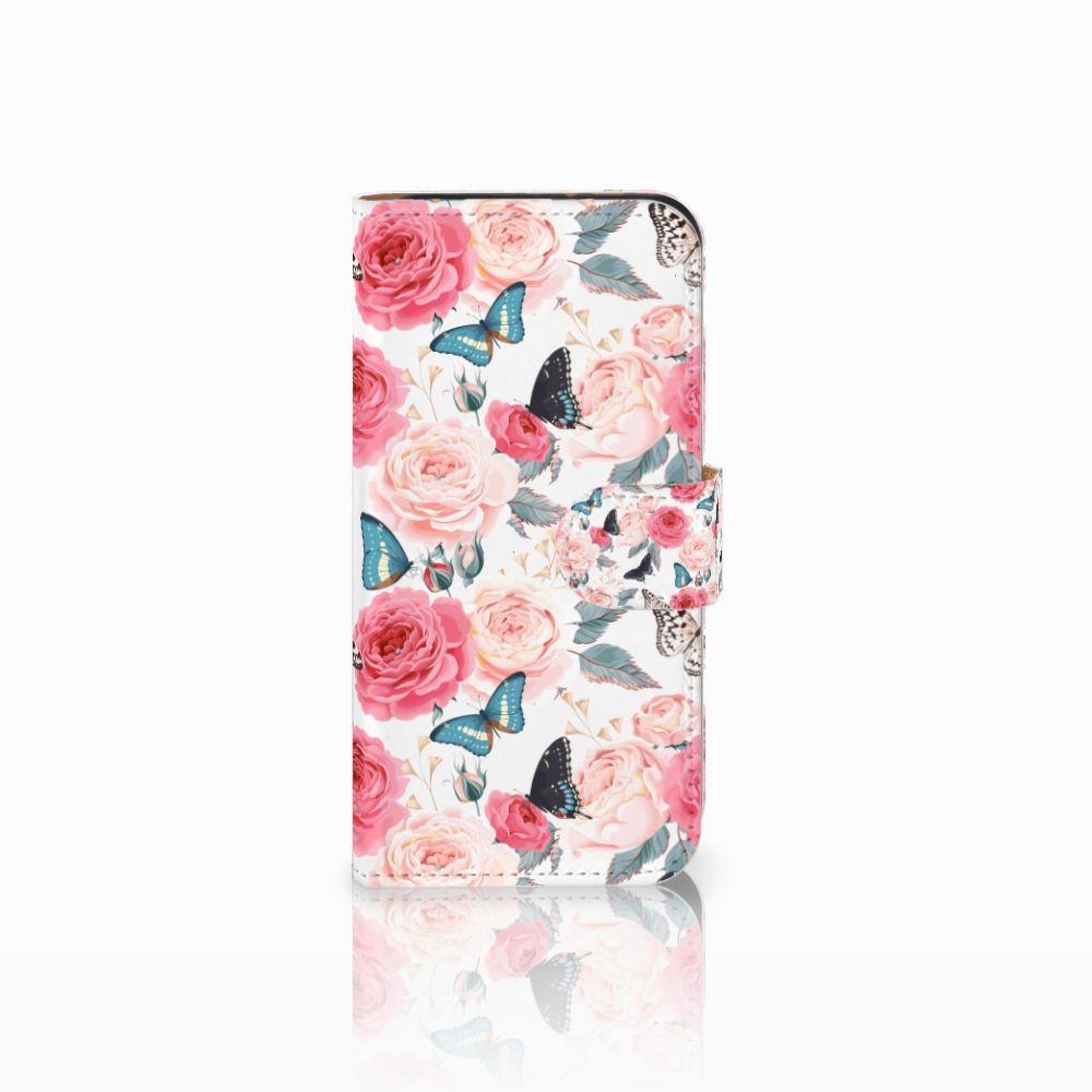 HTC One Mini 2 Uniek Boekhoesje Butterfly Roses