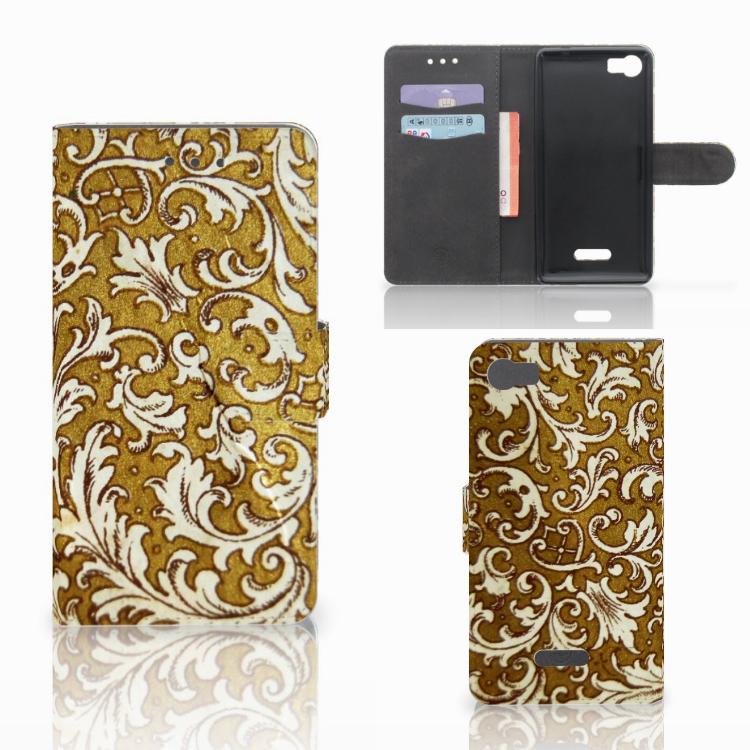 Wallet Case Wiko Fever (4G) Barok Goud