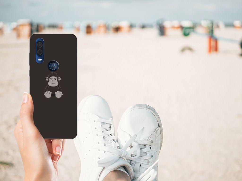 Motorola One Vision Telefoonhoesje met Naam Gorilla