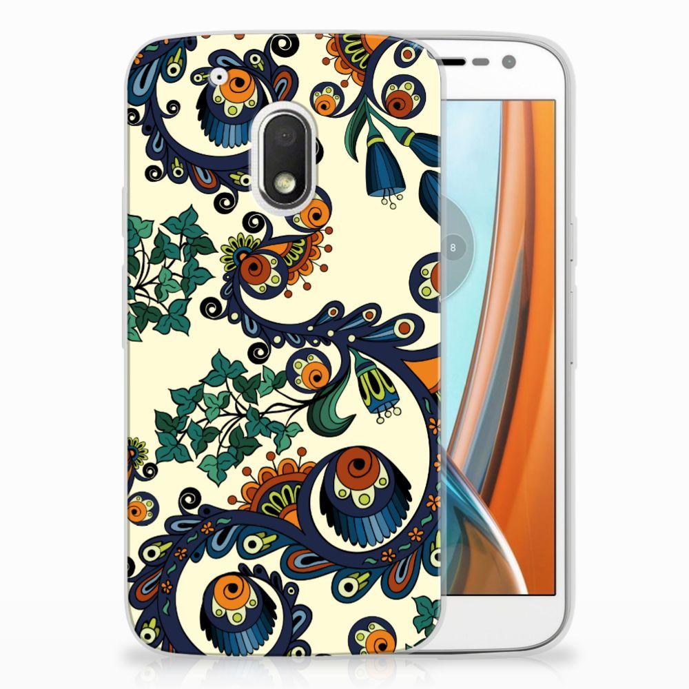 Siliconen Hoesje Motorola Moto G4 Play Barok Flower