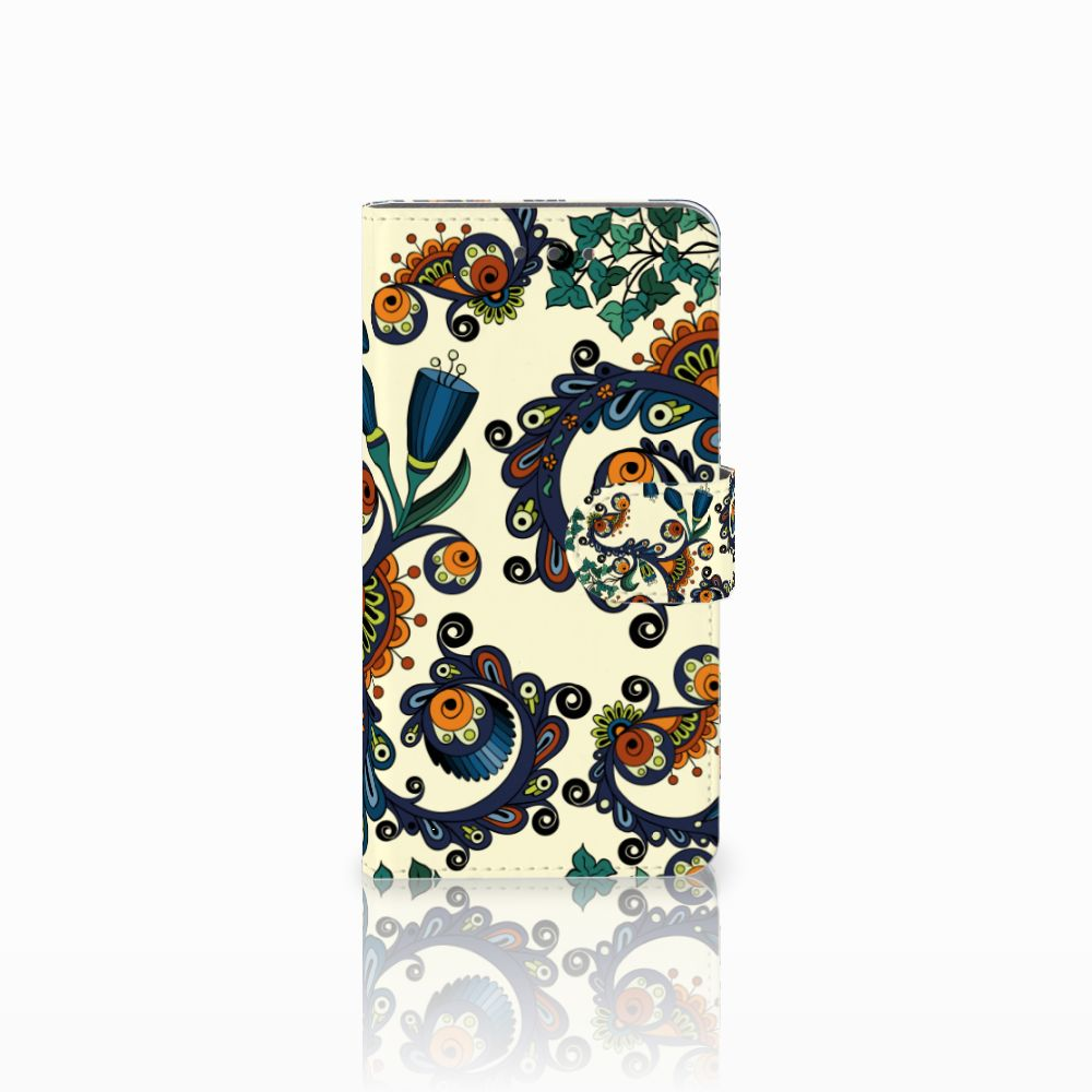 Wiko Fever (4G) Boekhoesje Design Barok Flower