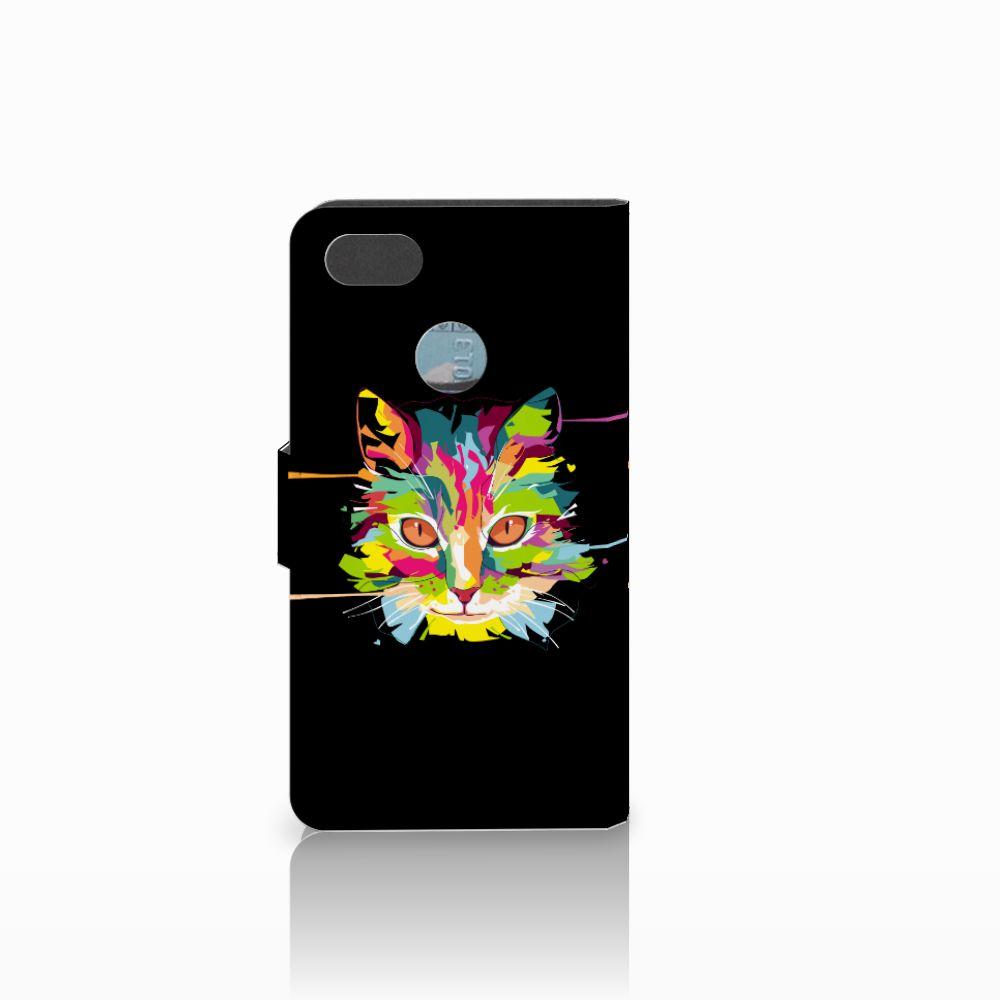 Huawei Y6 Pro 2017 Leuke Hoesje Cat Color