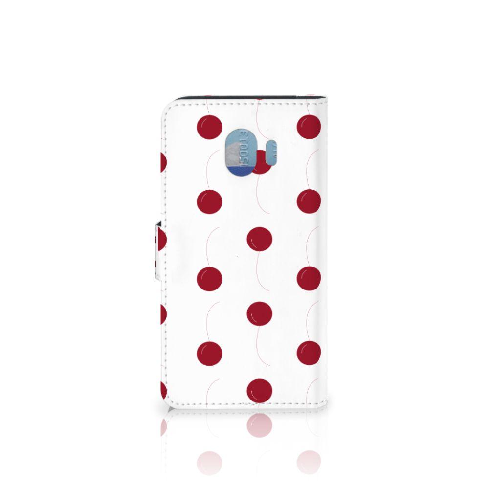 Samsung Galaxy J4 2018 Book Cover Cherries