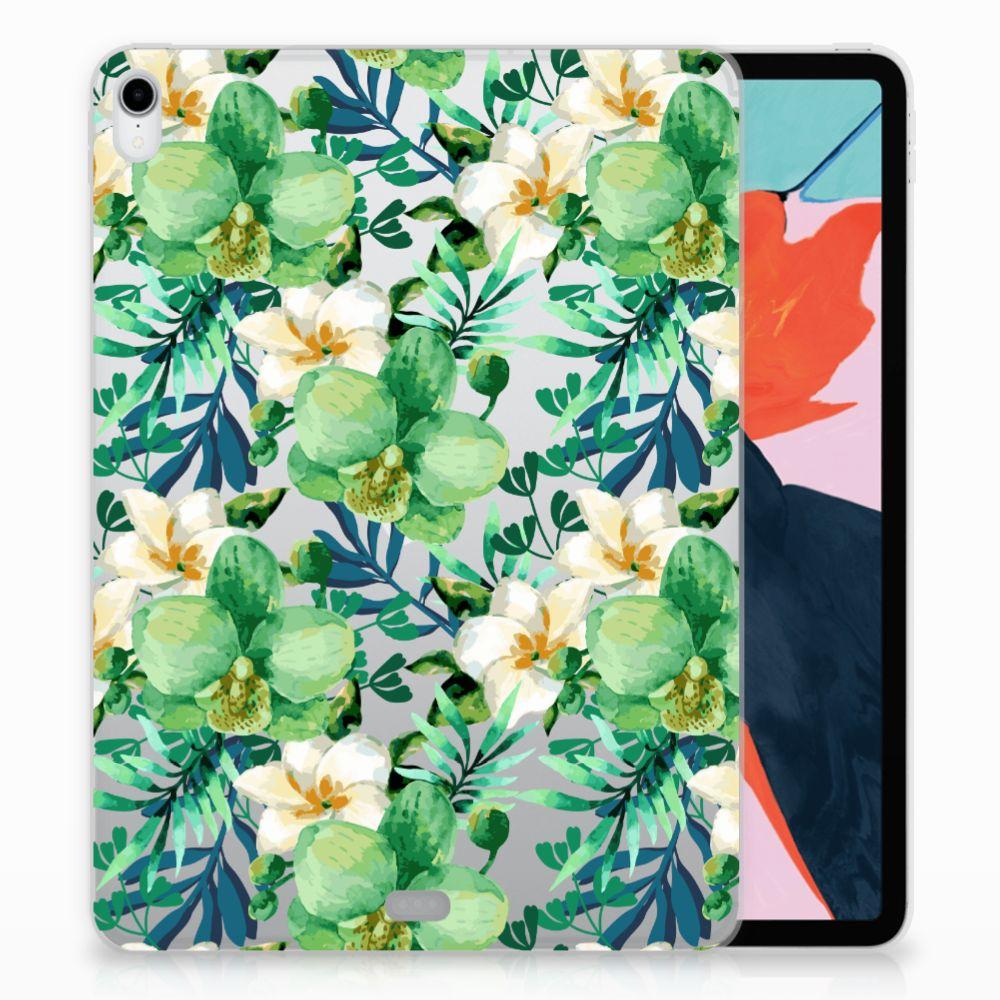 Apple iPad Pro 11 inch (2018) Uniek TPU Hoesje Orchidee Groen